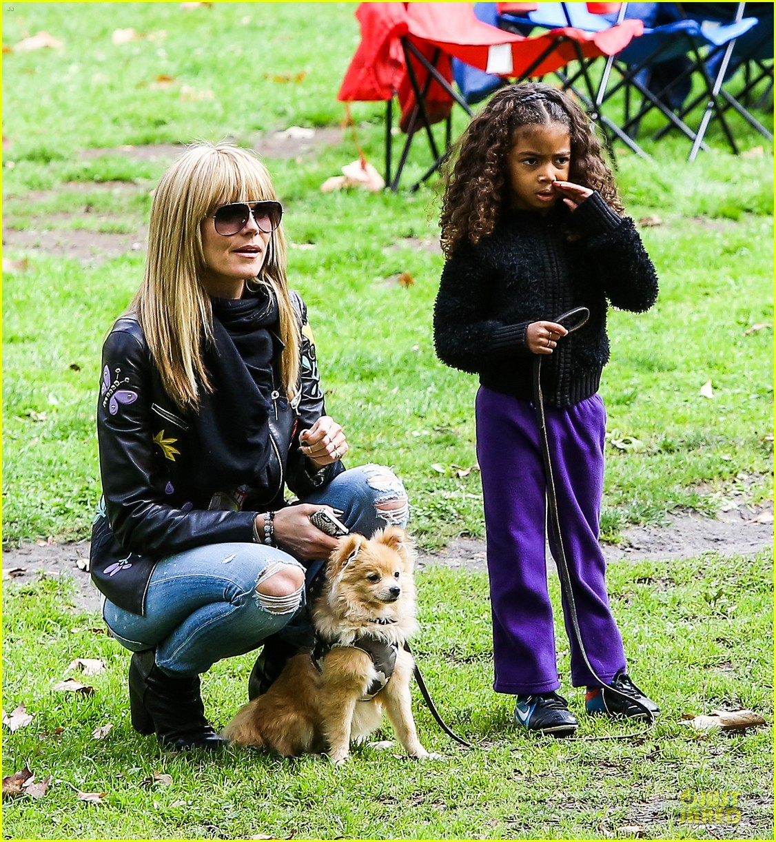 heidi klum soccer mom at leni johan saturday game 293049881