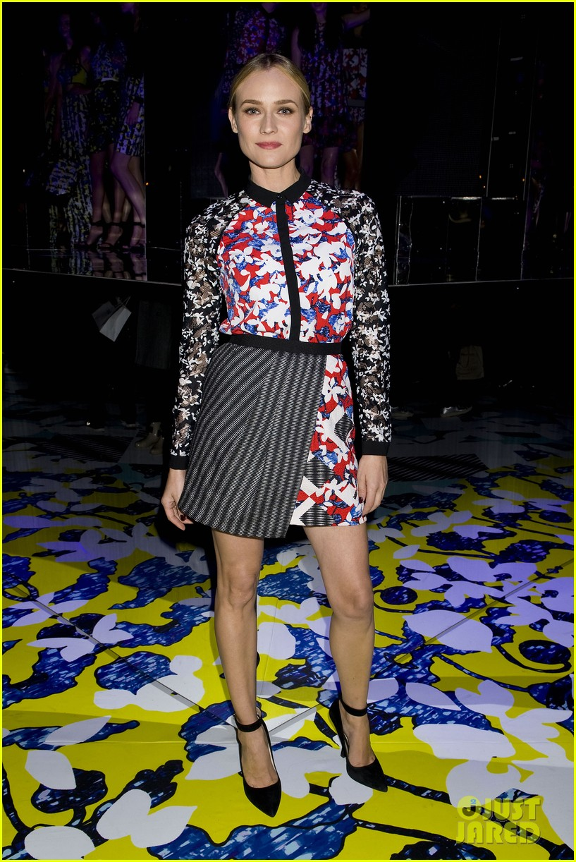 diane kruger rocks floral print at peter pilotto for target event 033048824