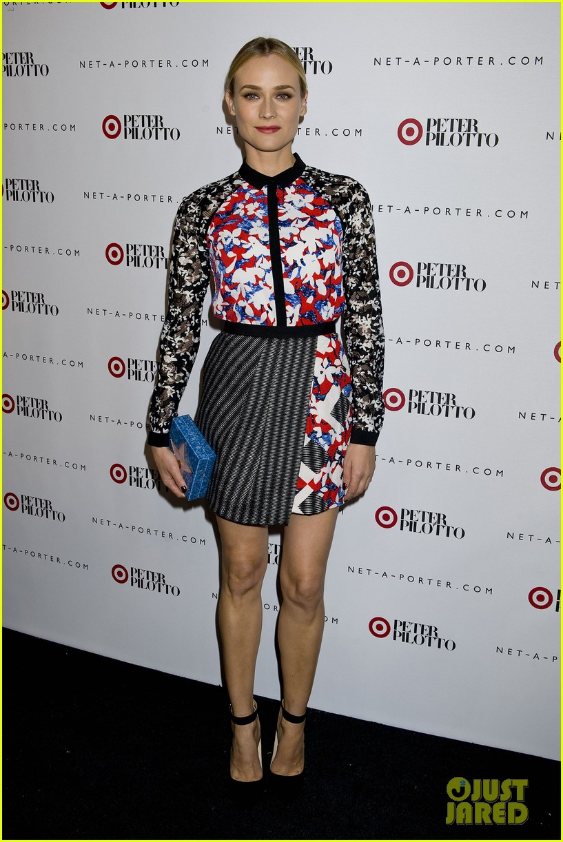 diane kruger rocks floral print at peter pilotto for target event 08