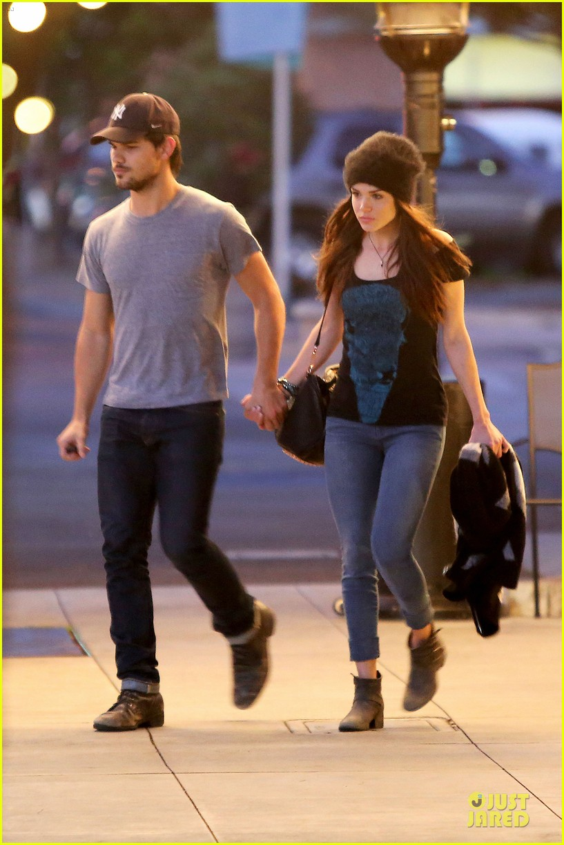 taylor lautner marie avgeropoulos hold hands for dinner 063047580
