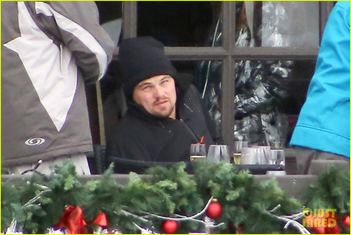 leonardo dicaprio toni garrn vacation in snowy french alps 03