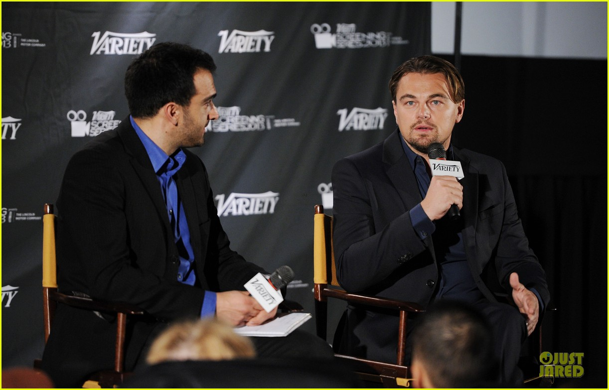 leonardo dicaprio promotes wolf of wall street at variety screening 01