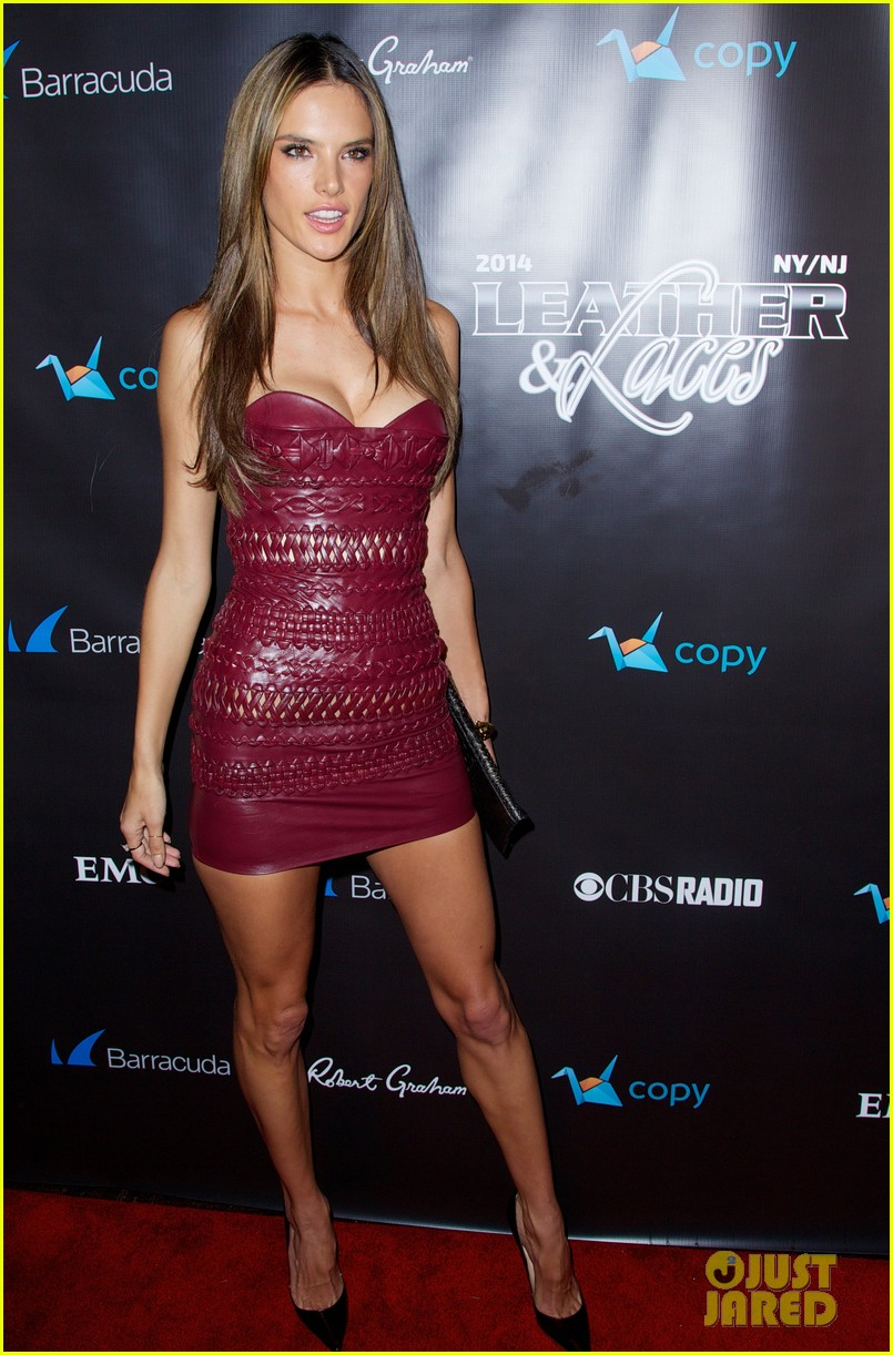 adriana lima alessandra ambrosio leather laces party 20