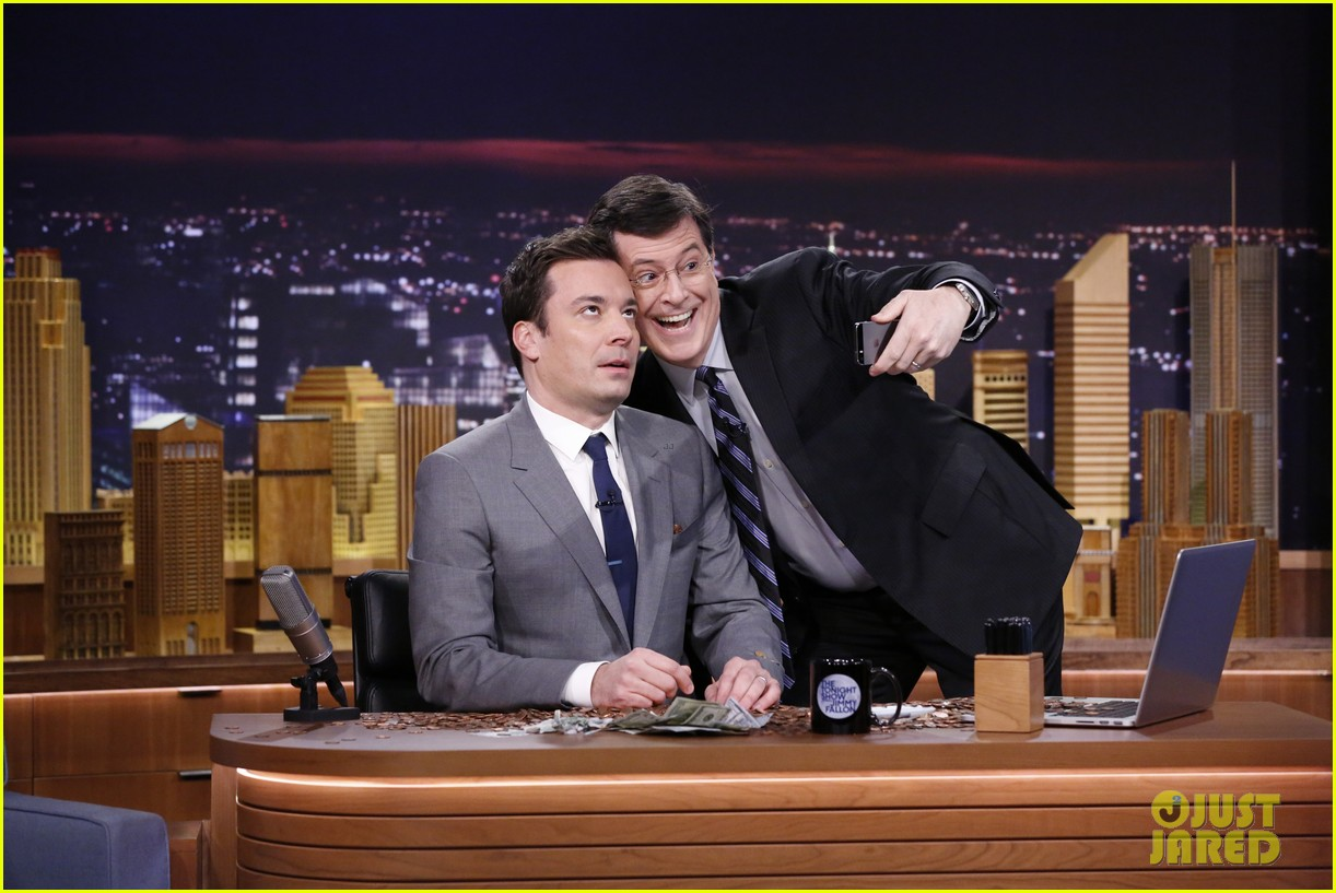 lindsay lohan kim kardashian more surprise jimmy fallon for tonight show debut 023055420