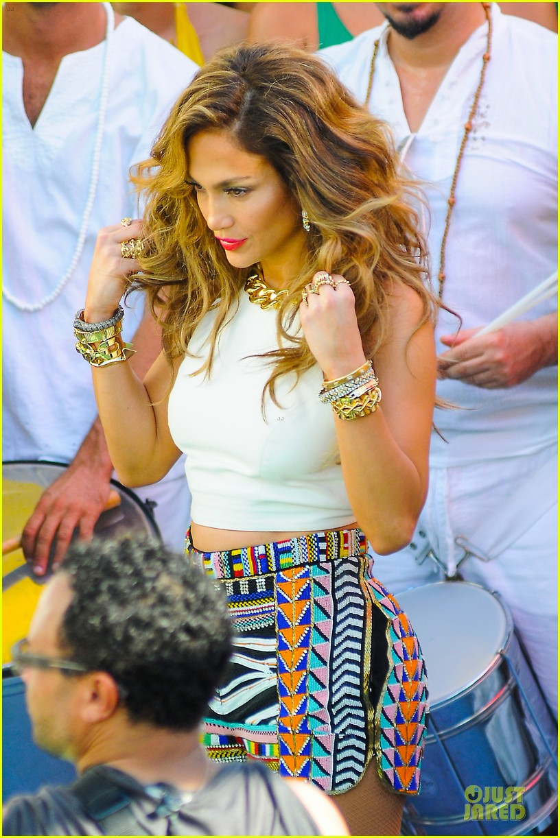 jennifer lopez shoots vibrant world cup music video 15