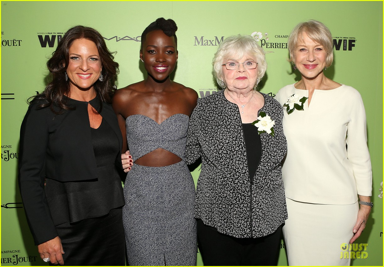 lupita nyongo helen mirren show admiration for each other at woemn in film pre oscar party 03