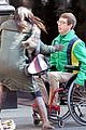 lea michele films glee new york scenes with kevin mchale 07