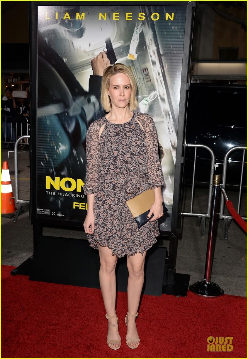 sarah paulson supports jason butler harner at non stop premiere 06