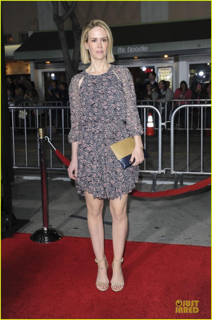 sarah paulson supports jason butler harner at non stop premiere 19