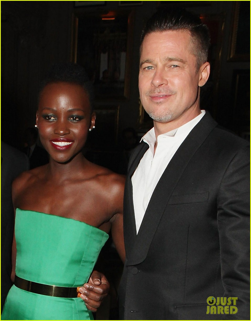 angelina jolie brad pitt baftas after party with lupita nyongo 01