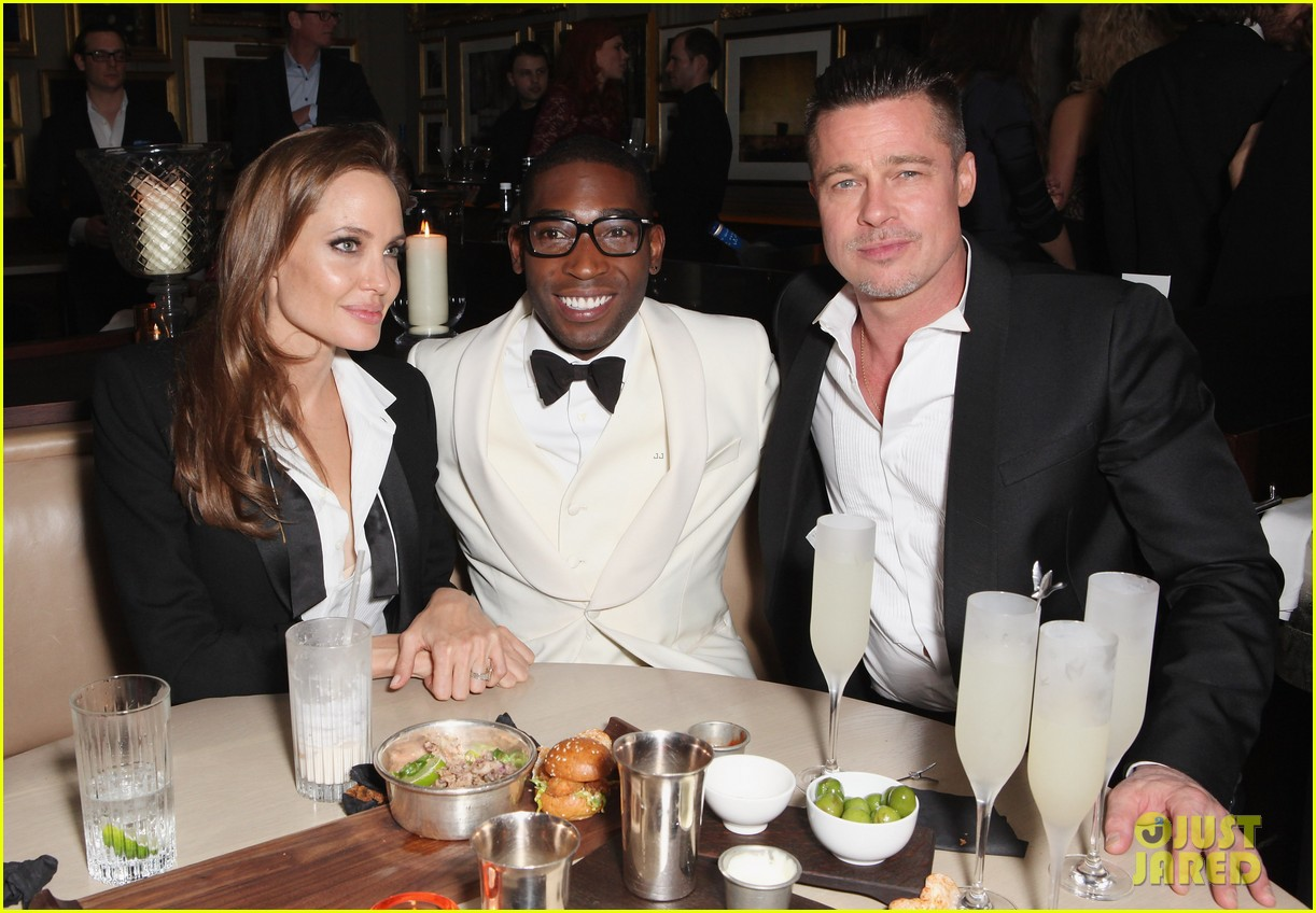 angelina jolie brad pitt baftas after party with lupita nyongo 033054926
