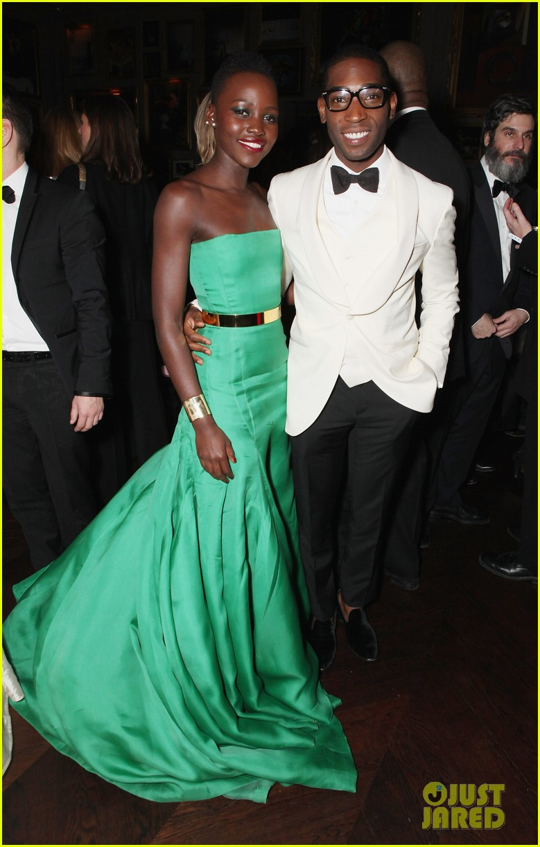 angelina jolie brad pitt baftas after party with lupita nyongo 09