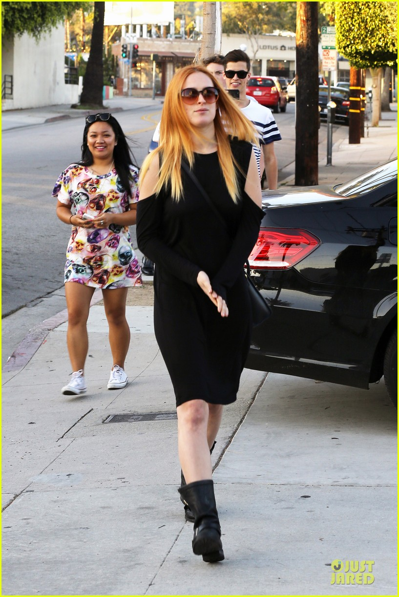 rumer willis rocks lighter hair at andy lecompte salon 143053525