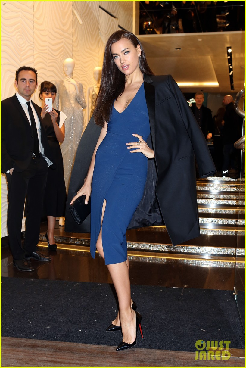 samantha barks irina shayk robert cavalli milan boutique opening 07