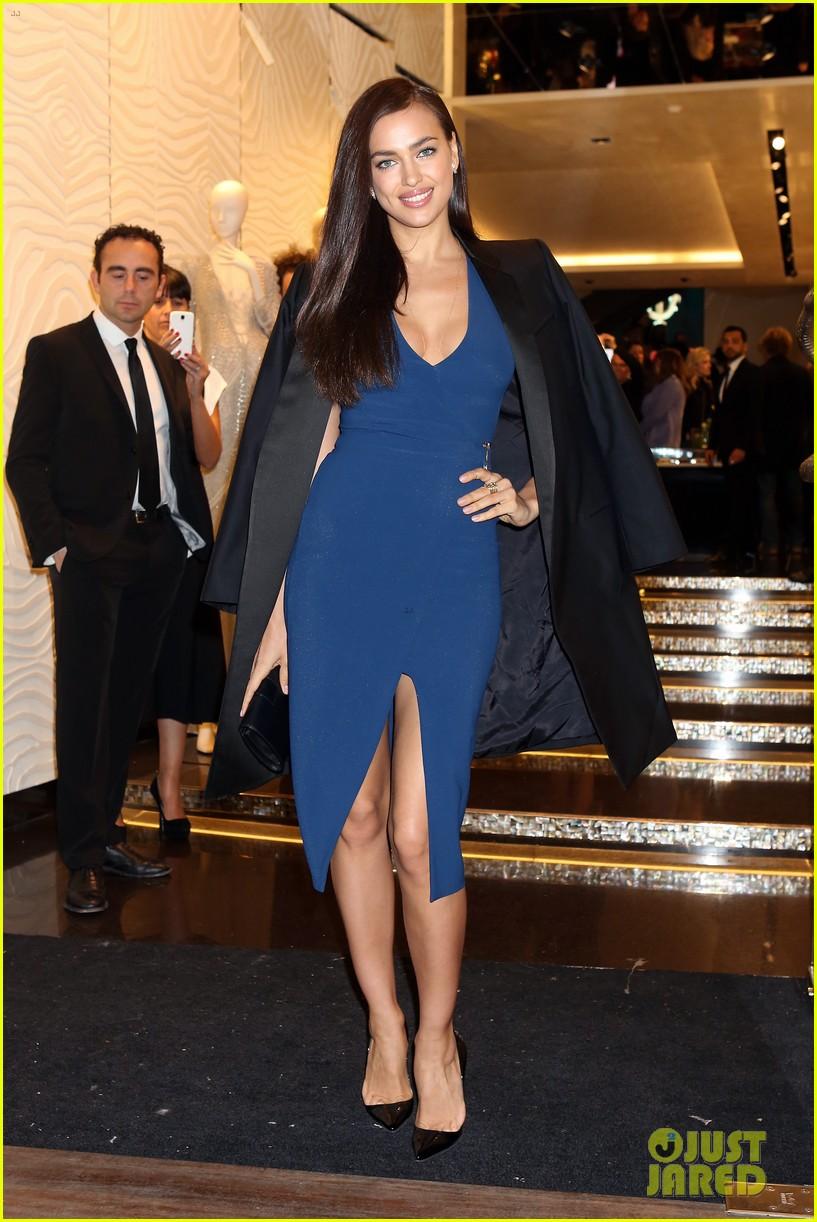 samantha barks irina shayk robert cavalli milan boutique opening 083059110
