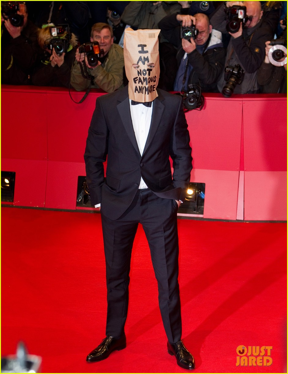 shia labeouf wears paper bag over his head for nymphomaniac berlin premiere 08