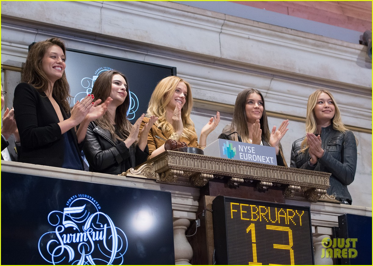 sports illustrated swimsuit models ring stock exchange bell 10