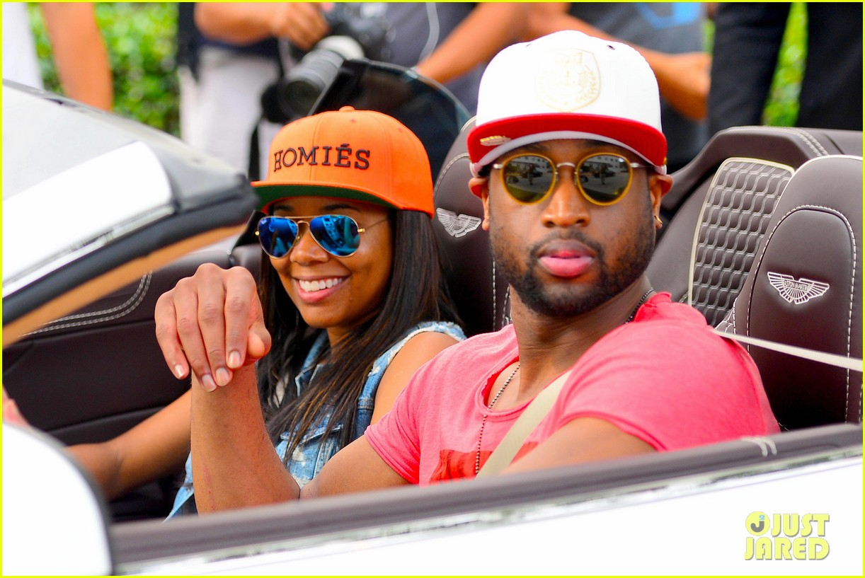 gabrielle union dwyane wade cruise around with the top down in miami 06