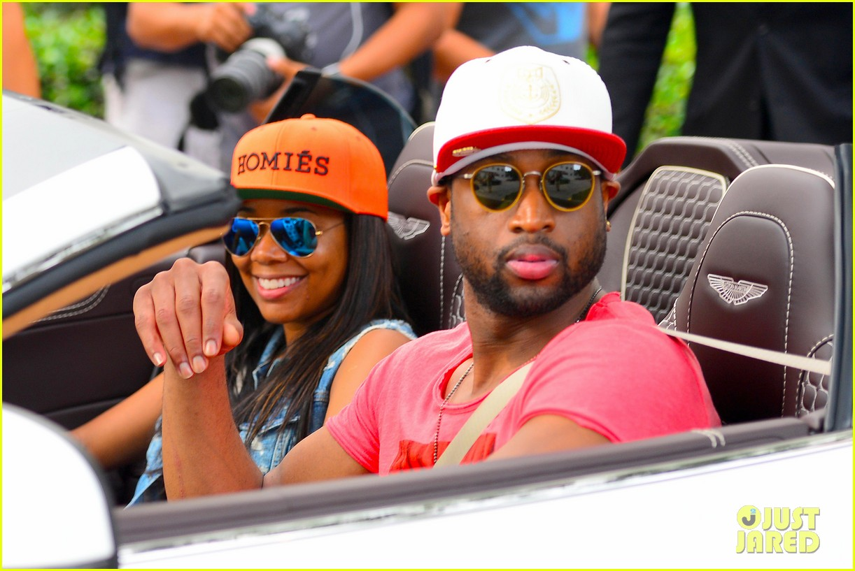 gabrielle union dwyane wade cruise around with the top down in miami 11