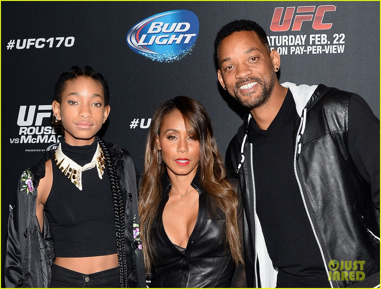 will smith wife jada pinkett ufc las vegas event with willow 053059081