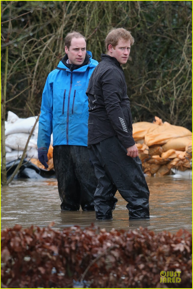 prince william prince harry help defend against uk floods 113054047