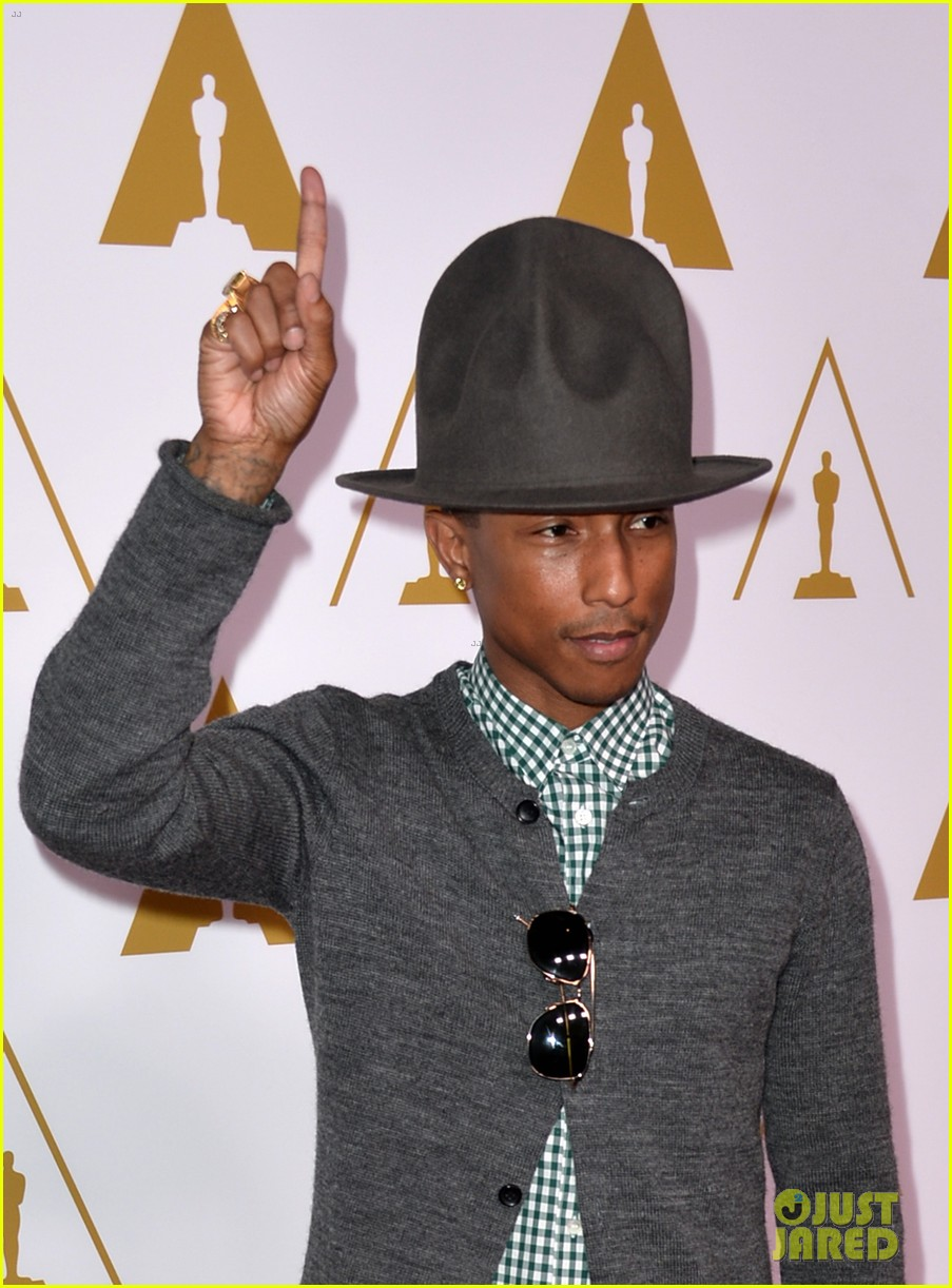 pharrell williams gets new hat for oscars nominees luncheon 01