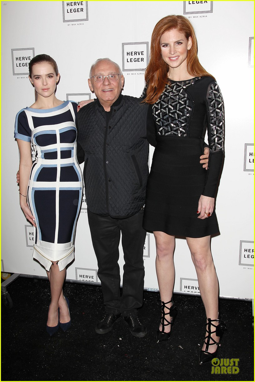 zoey deutch jamie chung herve leger by max azria fashion show 12