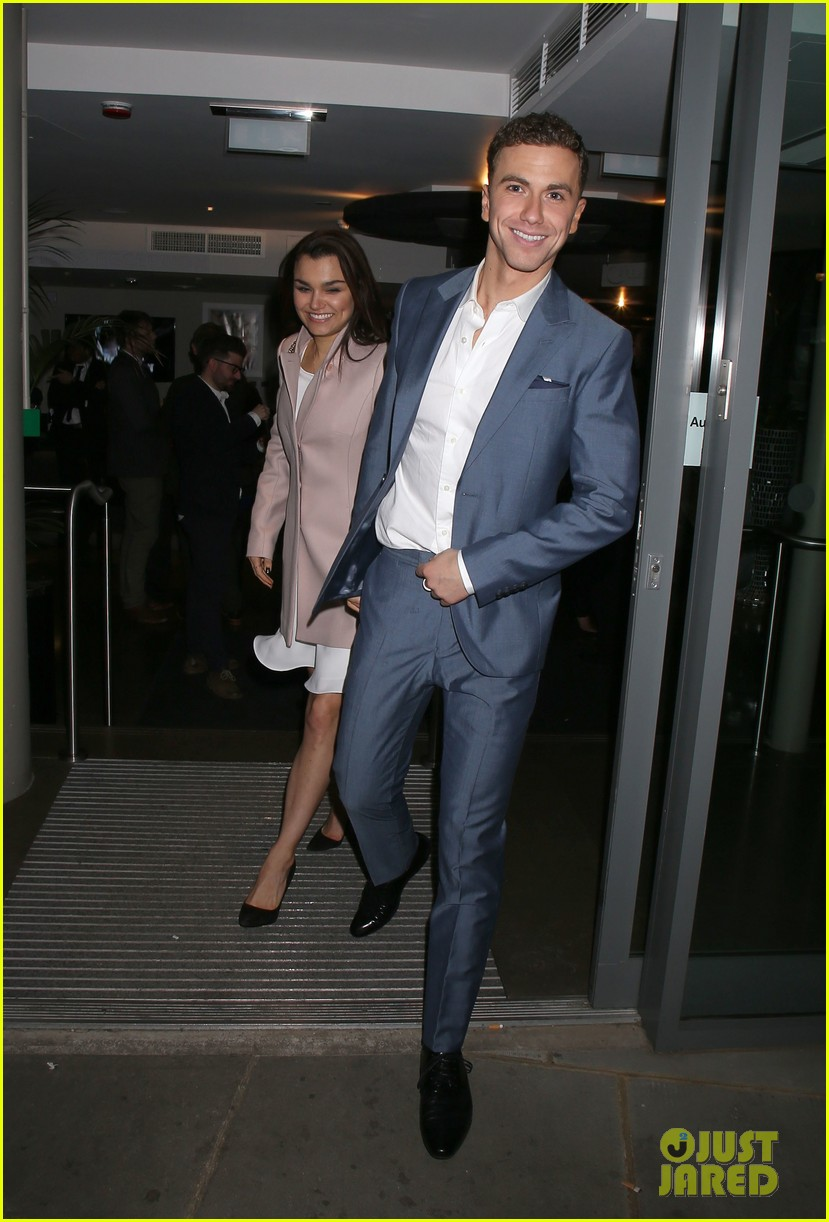 samantha barks supports richard fleeshman at his show urinetowns press night 01