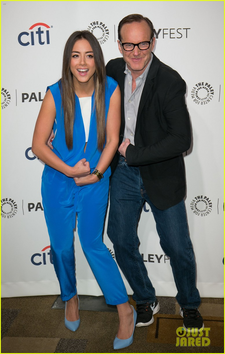 chloe bennet clark gregg promote agents of s h i e l d at paleyfest 063077610