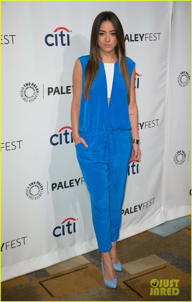 chloe bennet clark gregg promote agents of s h i e l d at paleyfest 14