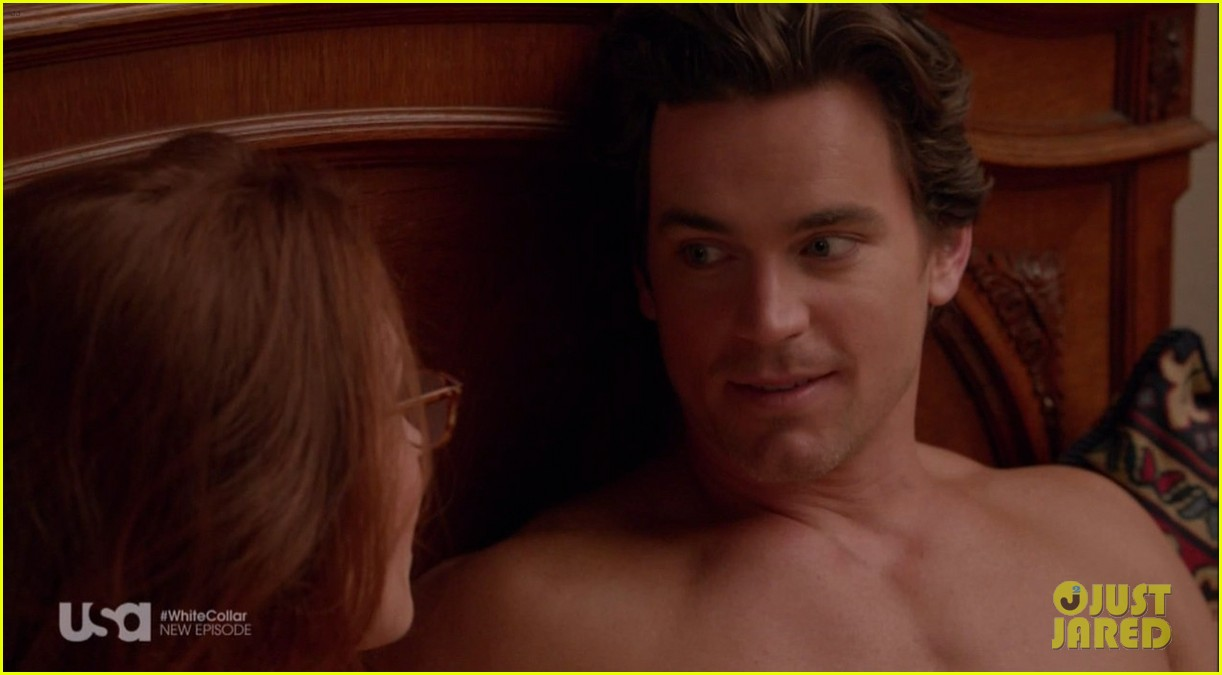 matt bomer shirtless sexy in recent white collar episode 10