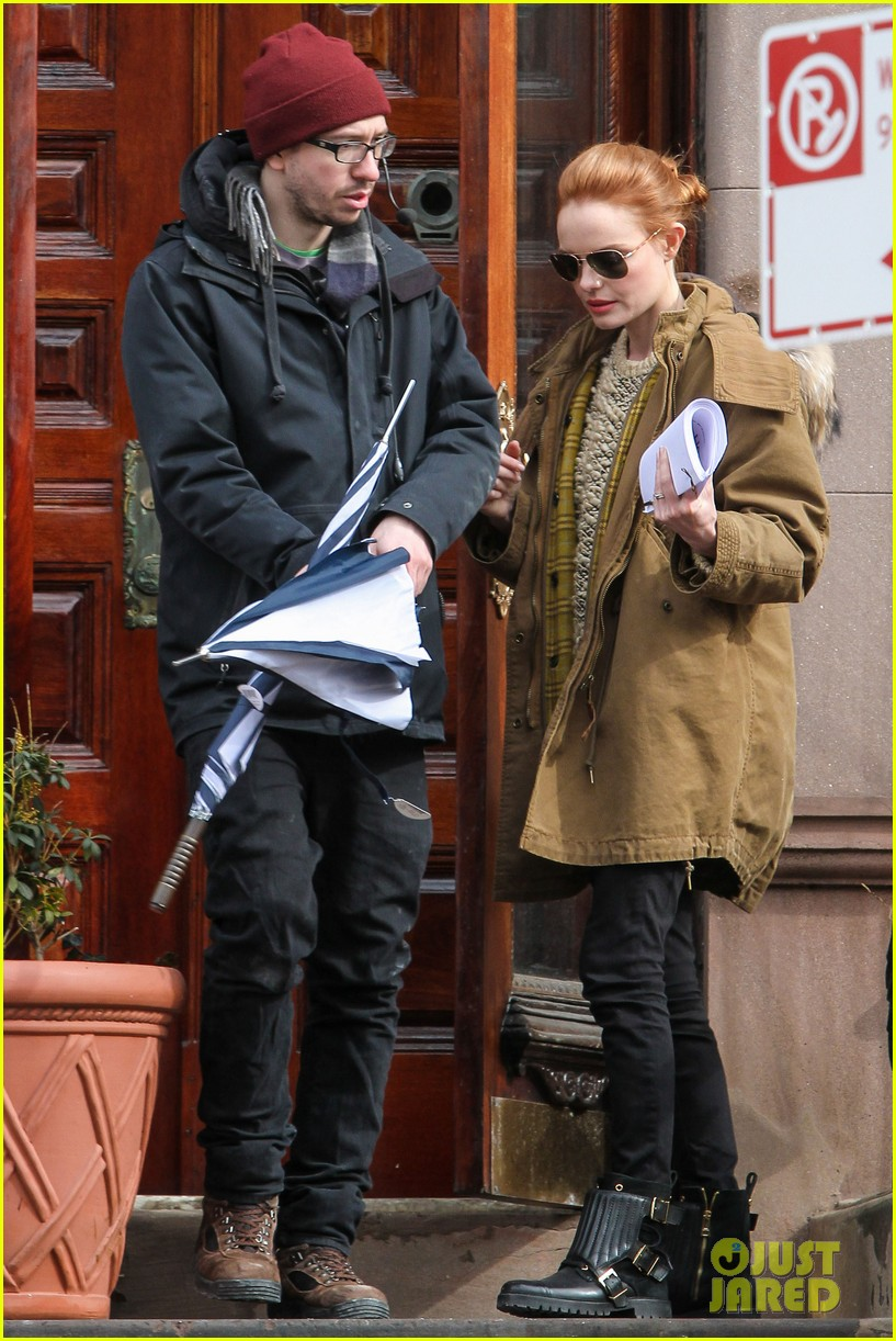 kate bosworth kristen stewart get ready for work on still alice set 163065927