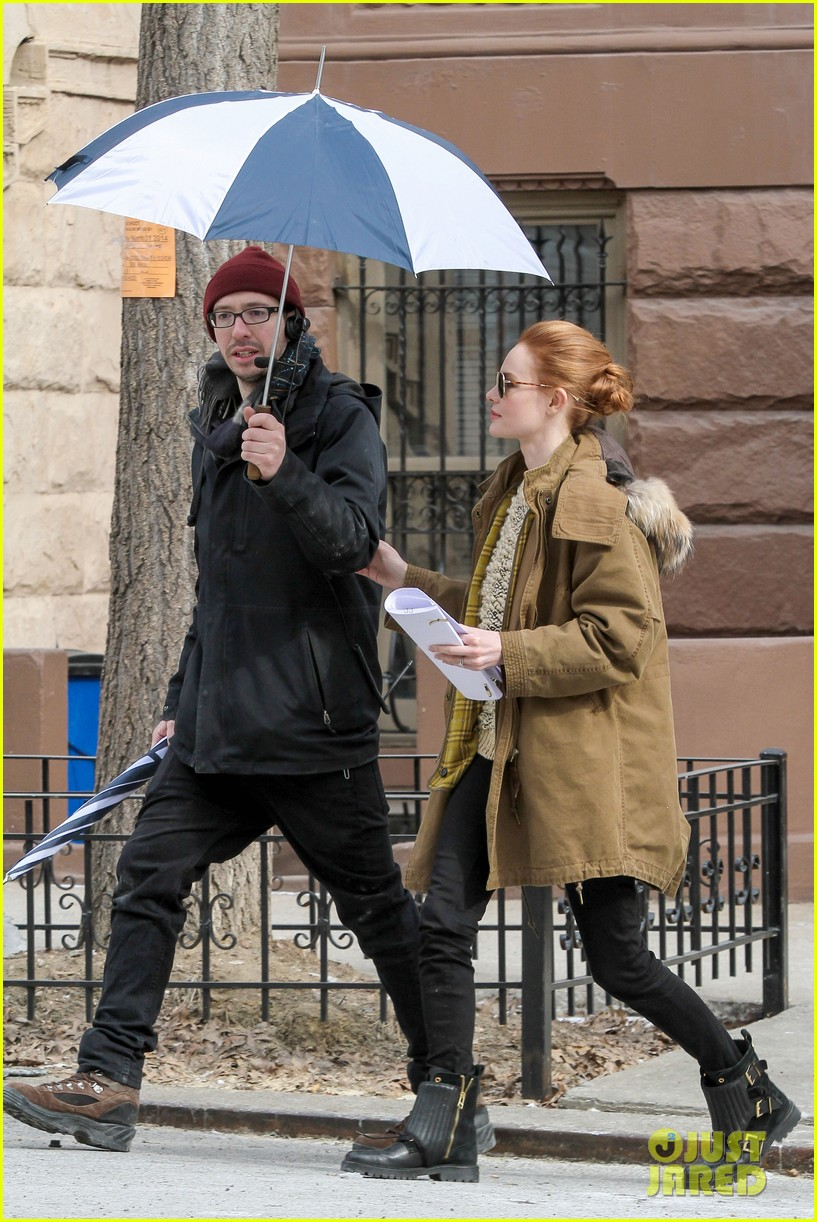 kate bosworth kristen stewart get ready for work on still alice set 173065928