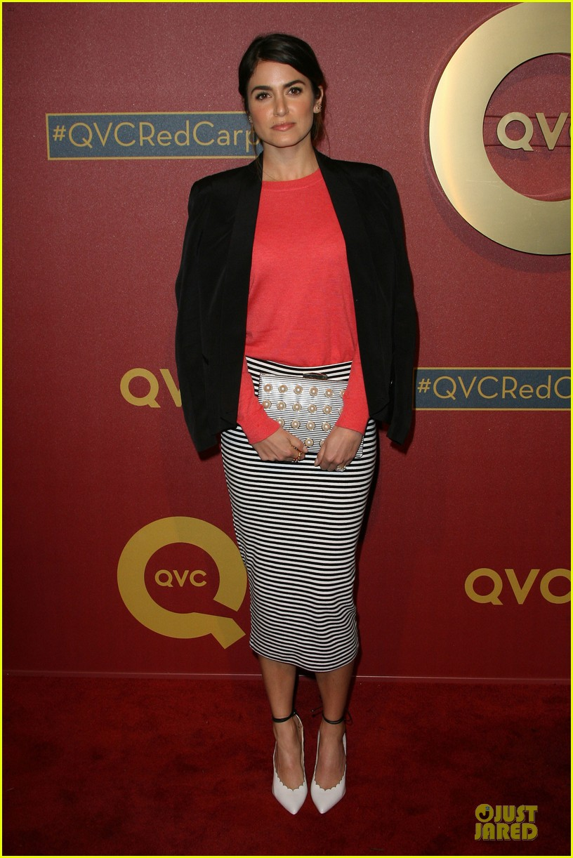 kristin chenoweth nikki reed rock florals stripes at qvc red carpet style event 15
