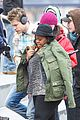 chord overstreet give amber riley jacket to stay warm 02