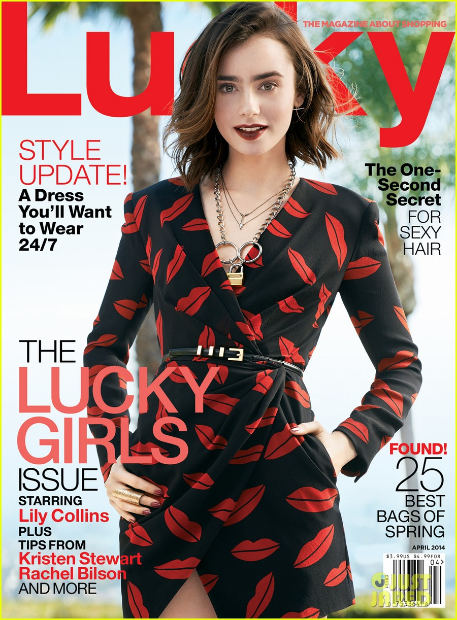 lily collins covers lucky magazine april 2014 02