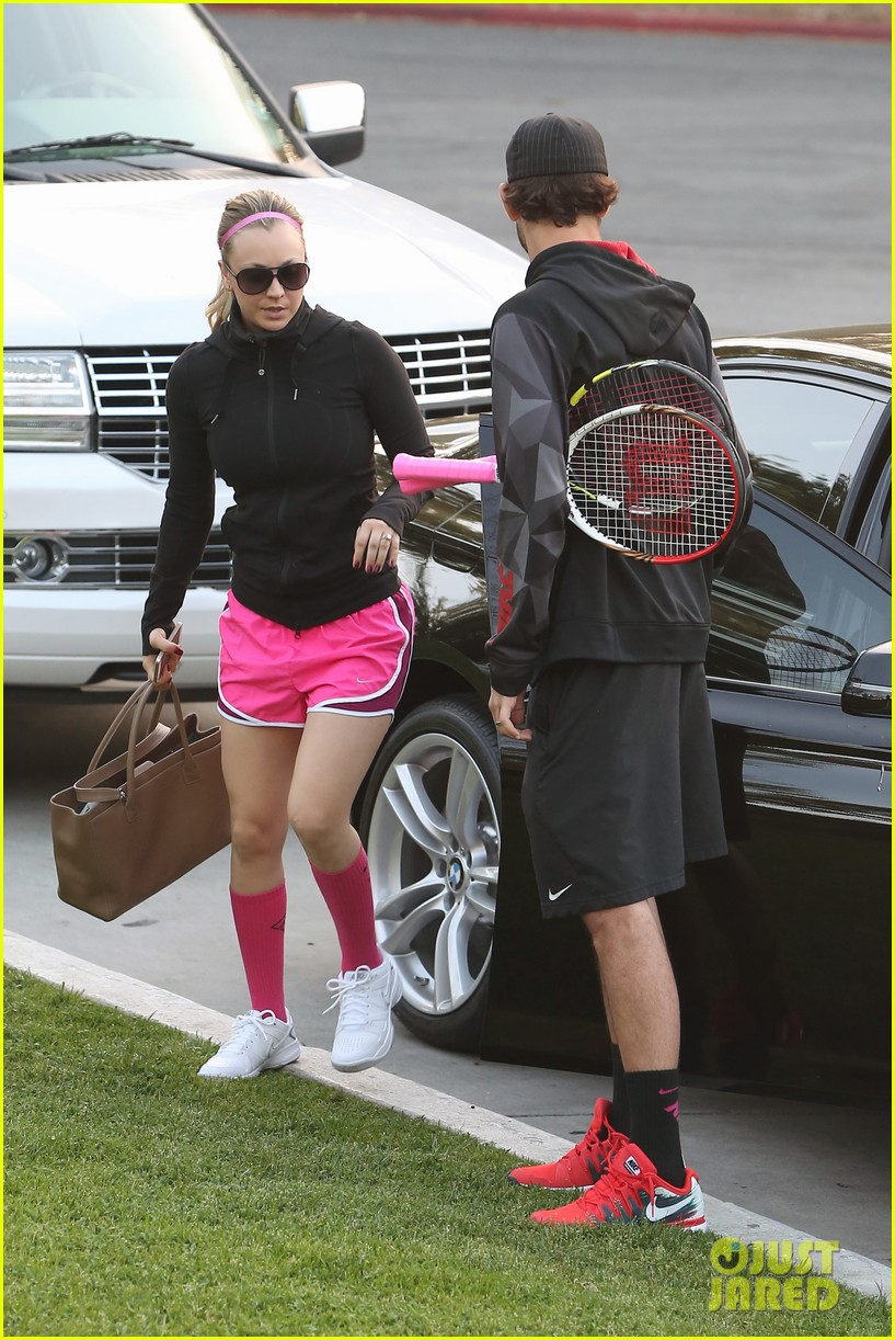 kaley cuoco ryan sweeting compete in tennis match end game with a sweet smooch 053076999