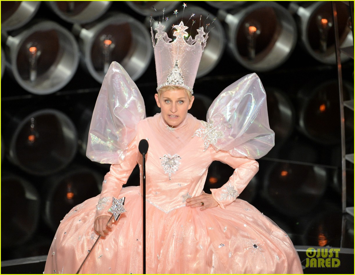 ellen degeneres is wizard of ozs glinda at oscars 2014 video 04
