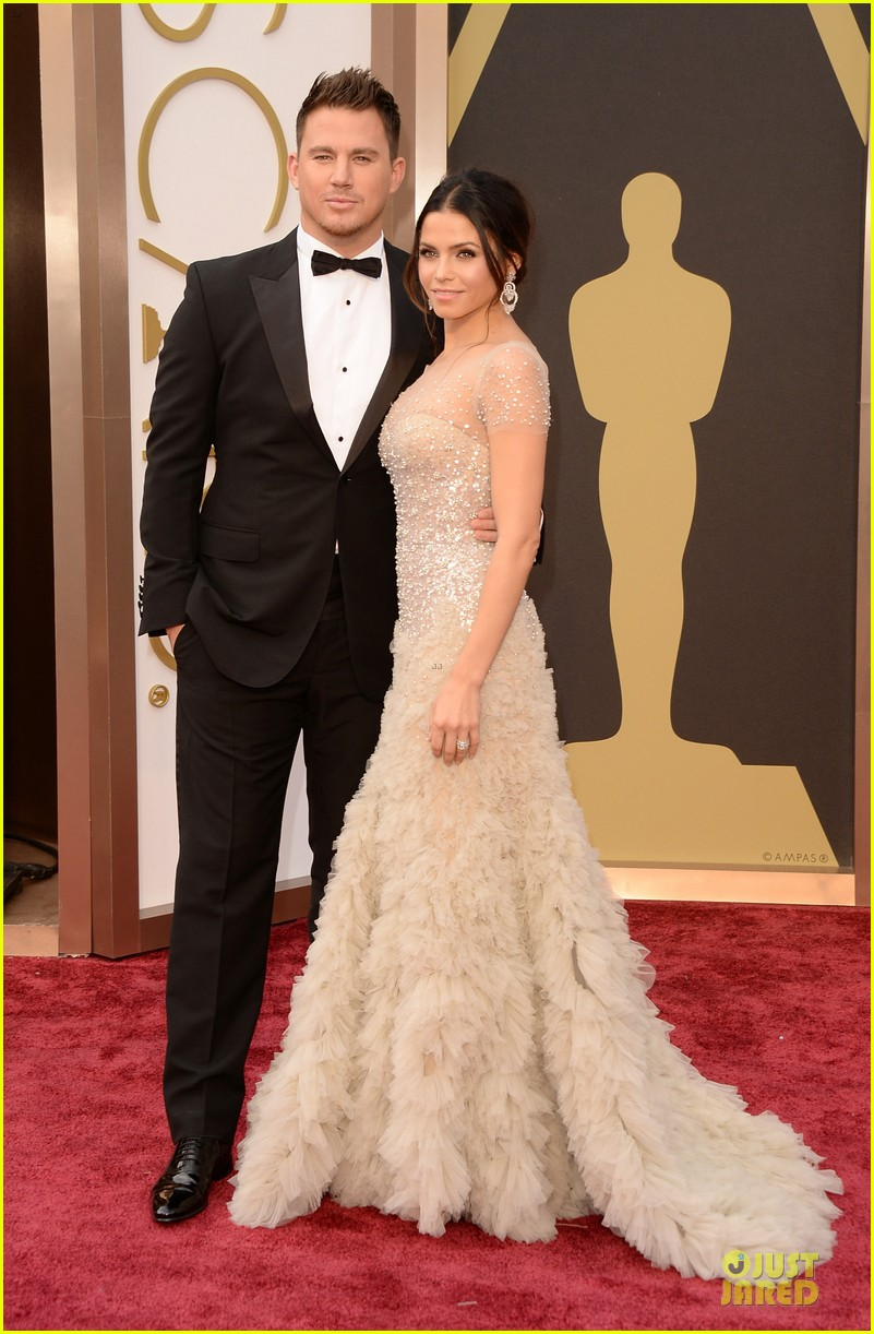 jenna dewan nude fairy on oscars 2014 red carpet with channing tatum 033063953