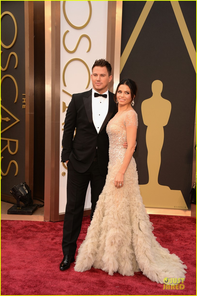 jenna dewan nude fairy on oscars 2014 red carpet with channing tatum 05