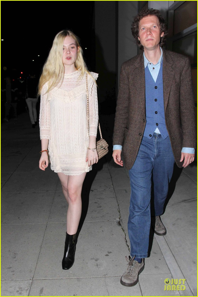 elle fanning teases the cameras in sheer dress at mr chow 08