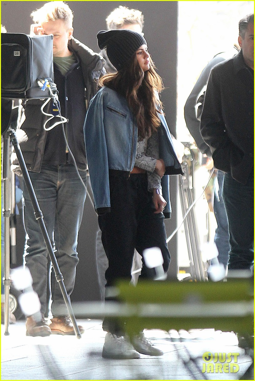 selena gomez films adidas ad in nyc 05