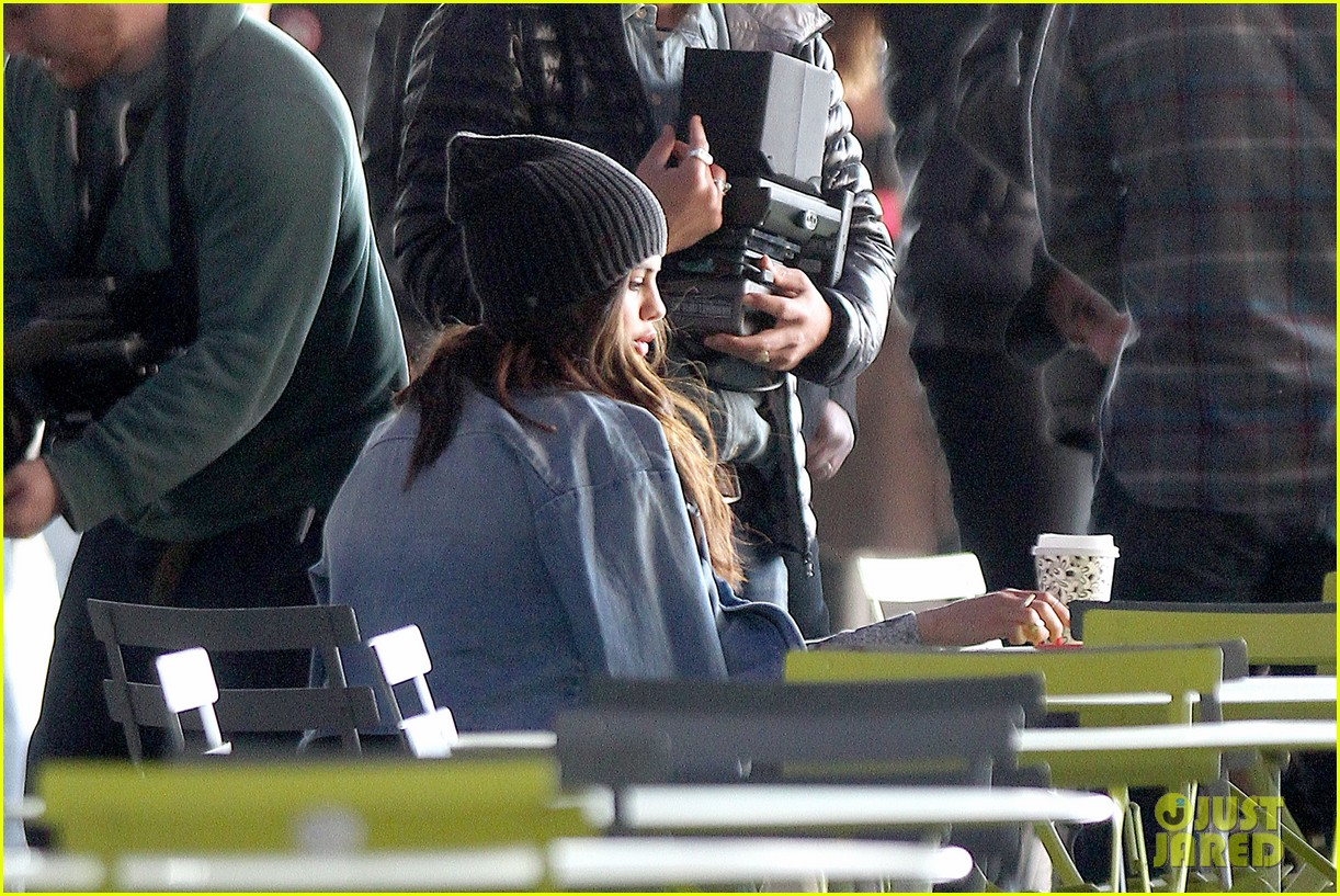 selena gomez films adidas ad in nyc 20