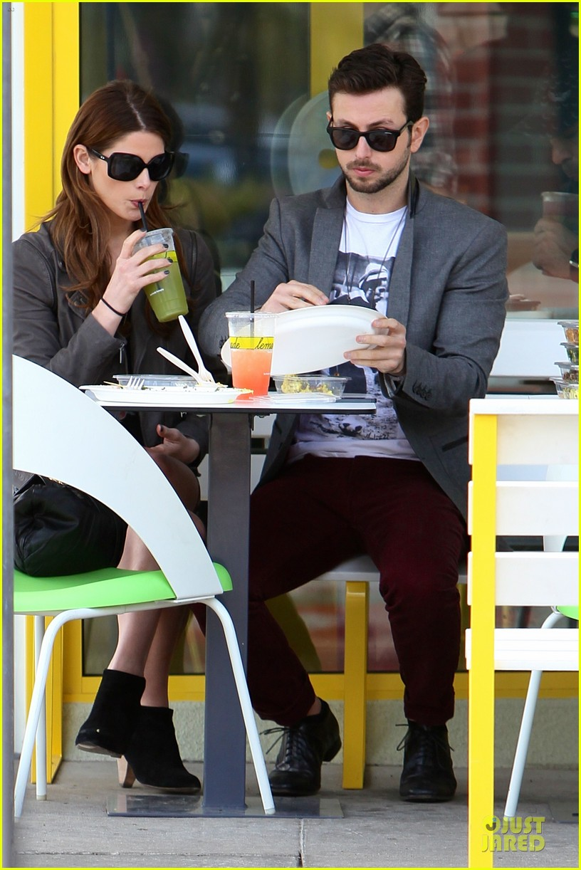 ashley greene paul khoury go in for a kiss after lunch 08