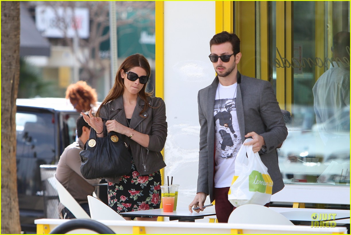 ashley greene paul khoury go in for a kiss after lunch 103066336