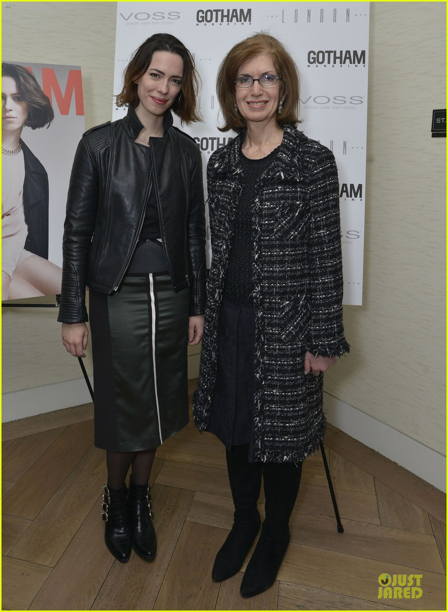 rebecca hall sports leather for gotham magazine cover party 033062742