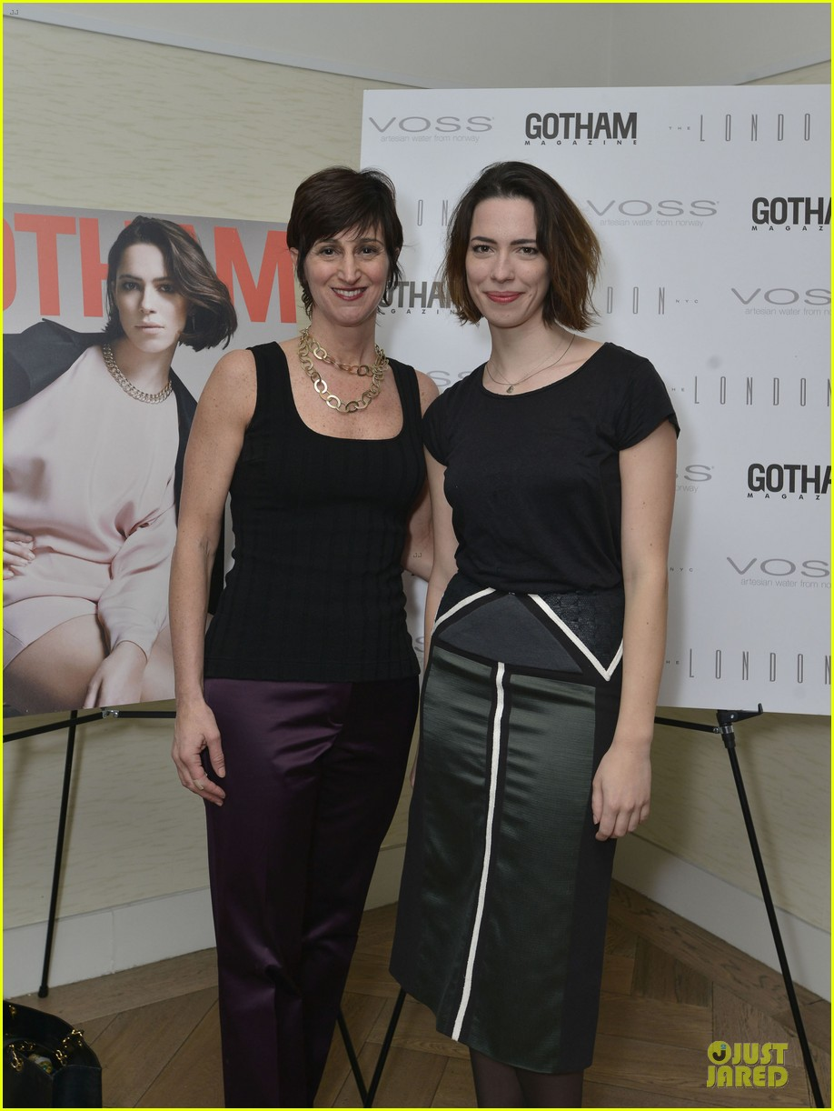 rebecca hall sports leather for gotham magazine cover party 04