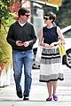 anne hathaway is black white chic for lunch with a pal 07