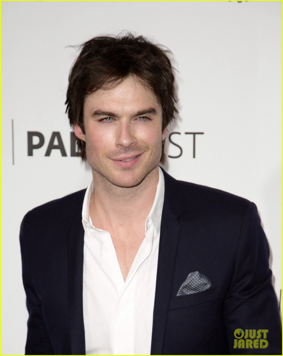ian somerhalder reunites with maggie grace lost cast at paleyfest 073073142