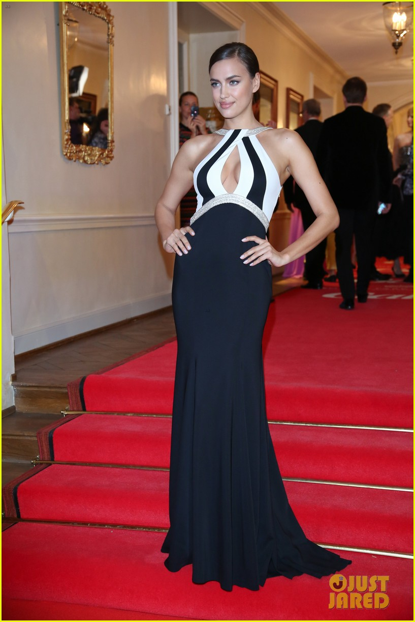 irina shayk assets plunging neckline gala spa awards 2014 06